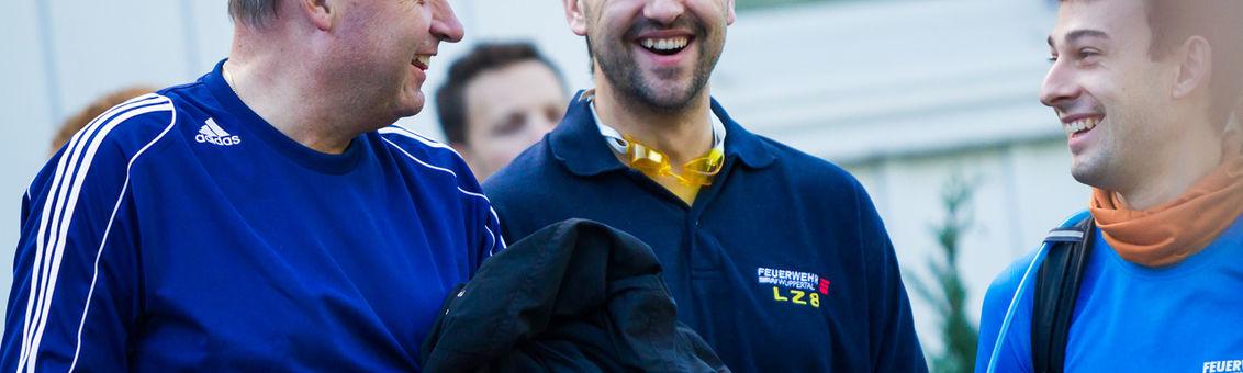 Die Staffel vom Löschzug Vohwinkel beim  Sparda-Cross-Triathlon