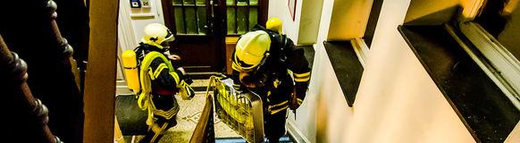 Dem Großeinsatz zum Trotz trafen sich die Vohwinkeler Feuerwehrleute am Donnerstag Abend zum Übungsdienst.