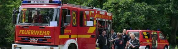 Feuerwehr und Förderverein präsentieren sich im Wuppertaler Zoo
