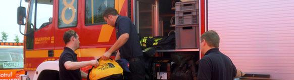 Die Feuerwehr Wuppertal mit der Bereitschaft V im Hochwassereinsatz